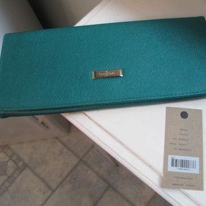COLE HAAN  Emerald Green Clutch  $148